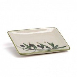 'Olive' Ceramic Soap Dish
